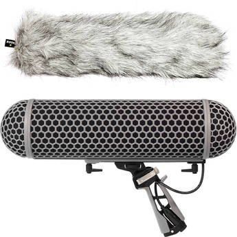 Rode Blimp Windshield and Rycote Shock Mount Suspension System for Shotgun Microphones