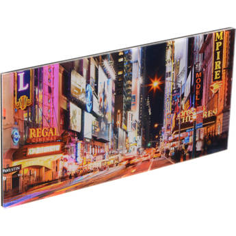 "WhiteWall 4x8"" WhiteWall Mini Panoramic Acrylic Photo Print of New York Landscape"