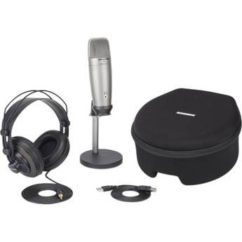Samson C01U Pro Podcasting Pack (Silver)