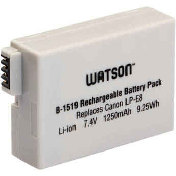 Watson LP-E8 Lithium-Ion Battery Pack (7.4V, 1250mAh)