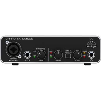 Behringer U-PHORIA UMC22 Desktop 2x2 USB 1.1 Audio Interface