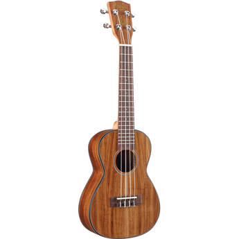"Kahua Tycoon Series 24"" Asian Koa Concert Ukulele with White Binding (Matte Finish)"