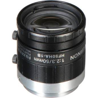 Fujinon HF50HA-1B 50mm Fixed Focal Lens with C-Mount and Locking Iris/Focus for 2/3-Inch CCD, Industrial and Machine Vision Applications