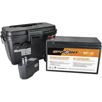 Spypoint Rechargeable 12V Battery, Charger & Housing Kit