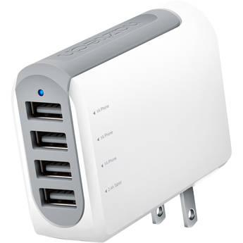 Naztech N260 Quad-Port USB Travel Charger (4.8A)