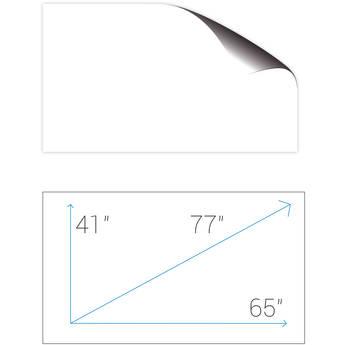 "Screenline SA165GFR ScreenApp 40.5 x 65.0"" Whiteboard Adhesive Film Screen"