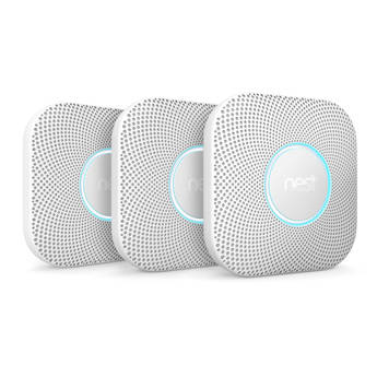 Google Nest Protect Battery-Powered Smoke and Carbon Monoxide Alarm (2nd Generation, 3-Pack)