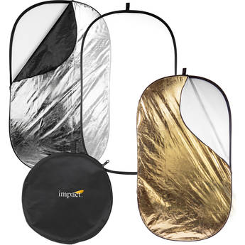 """Impact 5-in-1 Collapsible Oval Reflector (42 x 72"""")"""