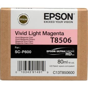 Epson T850600 UltraChrome HD Vivid Light Magenta Ink Cartridge (80 ml)