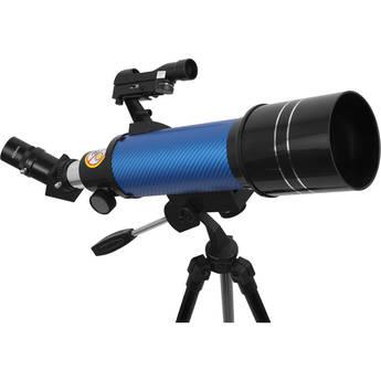 ExploreOne CF400 70mm f/6 Carbon Fiber AZ Refractor Telescope (Blue)