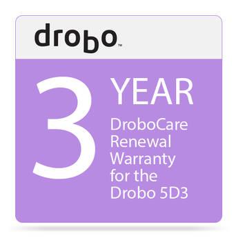 Drobo 3-Year DroboCare Renewal Warranty for the Drobo 5D3