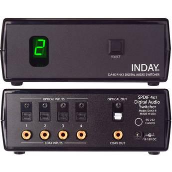 Inday DA4X-R SPDIF 4x1 Digital Audio Switcher