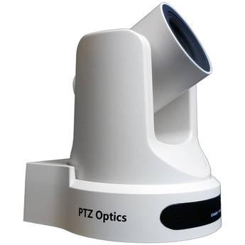 PTZOptics 20X-NDI Broadcast and Conference Camera (White)
