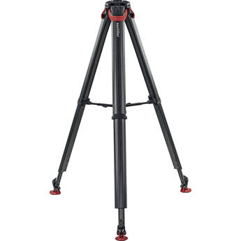 Flowtech 75 MS Carbon Fiber Tripod with Mid-Level Spreader and Rubber Feet