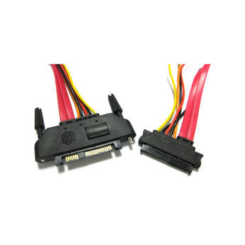 """MediaClone SAS/SATA 29-Pin Male to 29-Pin Female Power and Data Extension Cable (10"""")"""