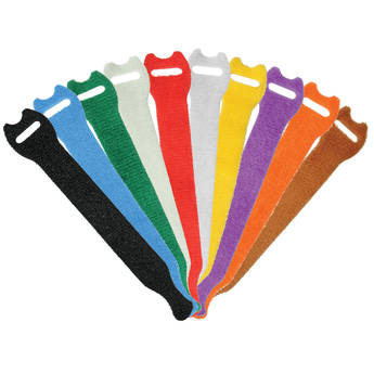 "Pearstone 0.5 x 6"" Touch Fastener Straps (Multi-Colored, 10-Pack)"