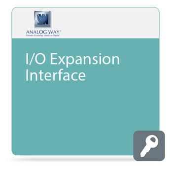 Analog Way AES/EBU, i3D Digital, and Analog Stereo Audio I/O Expansion Interface