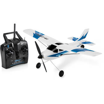 Top Race 3-Channel RTF Remote Control Airplane with Built-In 6-Axis Gyro System