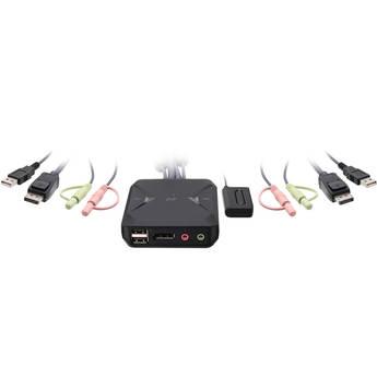 IOGEAR 2-Port USB DisplayPort Cable KVM Switch