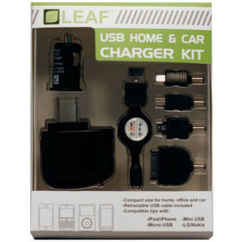 HYPERKIN Leaf USB Home/Car Charger Kit for iPhone/iPad/iPod/Android/Blackberry