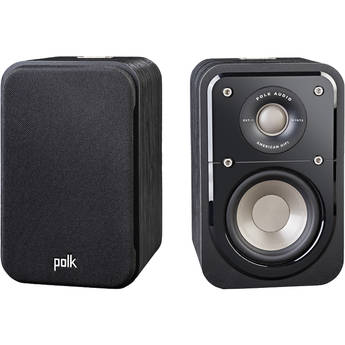 Polk Audio Signature Series S10 2-Way Surround Speakers (Washed Black Walnut, Pair)