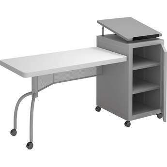 Oklahoma Sound Edupod Lectern/Teacher's Desk Combo (Hammer Tone Gray)