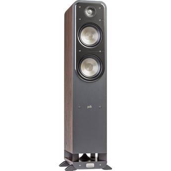 Polk Audio Signature Series S55 Floorstanding Speaker (Classic Brown Walnut, Single)