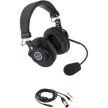"Senal SMH-1020CH Dual-Sided Communication Headset with 1/8"" and 3-Pin XLRM Cable for Mixers"