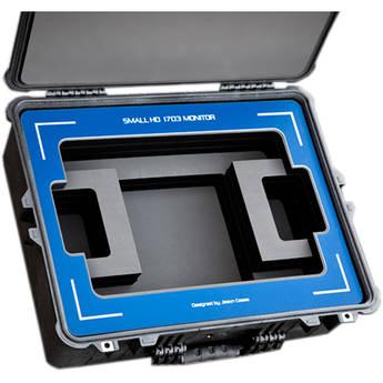 "Jason Cases Hard Case with Custom Foam for SmallHD 1703 17"" Studio Monitor (Blue Overlay)"