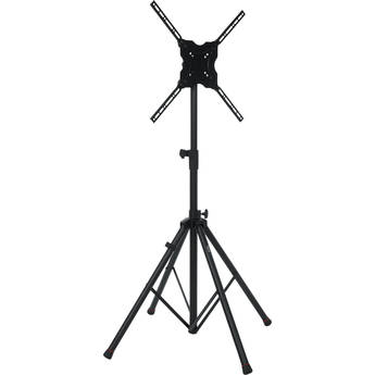 """Gator Deluxe Quadpod A/V Stand for Displays up to 65"""" (Black)"""