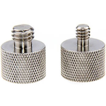 """CAMVATE 5/8""""-27 Female to 1/4""""-20 Male and 3/8""""-16 Male Mic Stand Thread Adapters Pack"""