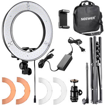 """Neewer LED Ring Light with Stand and Accessories Kit (14"""")"""
