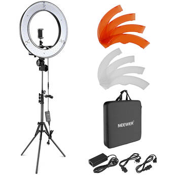 """Neewer LED Ring Light with Stand and Accessories Kit (18"""")"""
