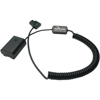 "IndiPRO Tools Coiled D-Tap to Sony NP-FZ100 Type Dummy Battery Cable (24-36"")"