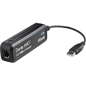 Audinate Dante AVIO 2x2 USB Type-A I/O Adapter for Dante Audio Network