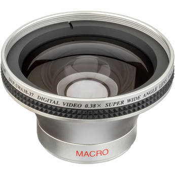 Impact DVP-SWA38-37 37mm .38x Super-Wide Converter Lens with Macro Capabilities