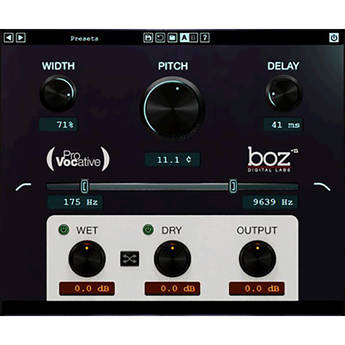 BOZ DIGITAL ProVocative - Micro Pitch Shifter Plug-In (Download)