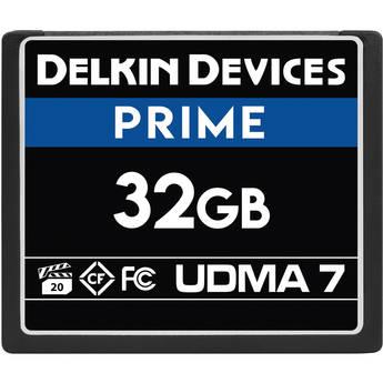 Delkin Devices 32GB PRIME UDMA 7 CompactFlash Memory Card