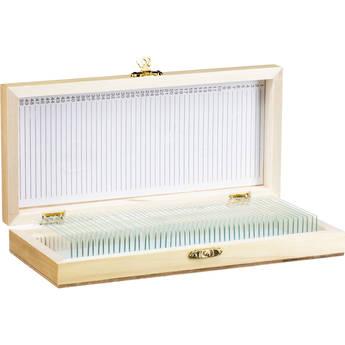 Barska Blank Microscope Slides (50-Pack, Wooden Case)
