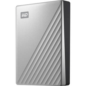 WD 4TB My Passport Ultra USB 3.0 Type-C External Hard Drive (Silver)