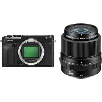 FUJIFILM GFX 50R Medium Format Mirrorless Camera with 45mm Lens Kit
