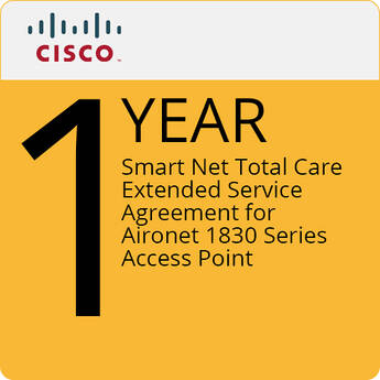 Cisco 1-Year Smart Net Total Care Extended Service Agreement for Aironet 1830 Series Access Point