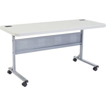 """Oklahoma Sound Plastic Flip-N-Store Training Table (24x60"""", Speckled Grey)"""