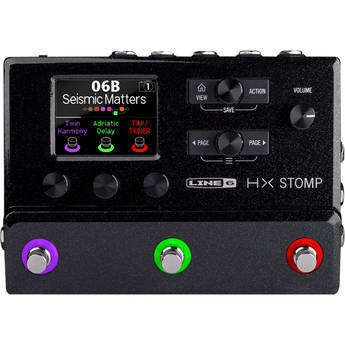 Line 6 HX Stomp Effects Pedal for Electric Guitar and Line Instruments