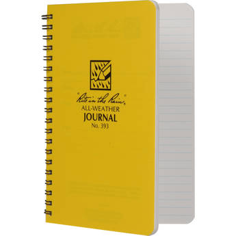 """Rite in The Rain All Weather Spiral Notebook With Journal Page Pattern - 4.6 x 7"""""""
