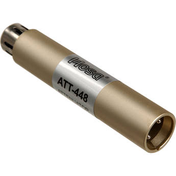 Hosa Technology ATT-448 - In-Line, Switchable Input Attenuator with 20, 30 or 40dB of Attenuation - XLR Barrel