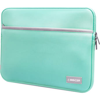 "iBenzer 13.3"" Neoprene Protective Laptop Sleeve with Accessory Pocket (Turquoise)"