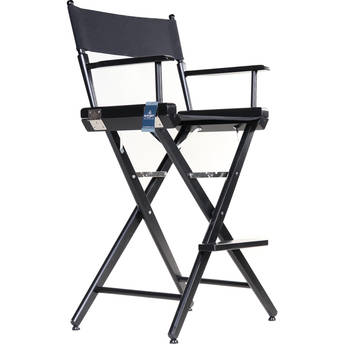 "Filmcraft Pro Series Tall Director's Chair (30"", Black Frame, Black Canvas)"
