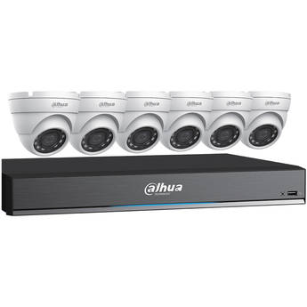 Dahua Technology Pro Series Pentabrid 8-Channel 8MP HD-CVI DVR with 3TB HDD and 6 5MP Turret Cameras