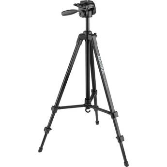 Magnus PV-3320G Photo/Video Tripod with Geared Center Column with Smartphone Adapter and GoPro Mount